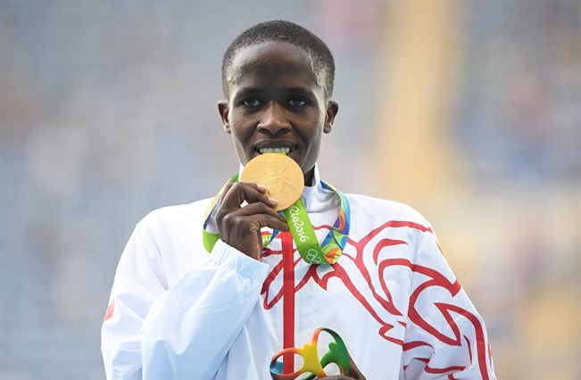 Ruth Jebet Rion olympialaisissa.