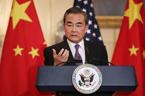 Wang Yi Washingtonissa.