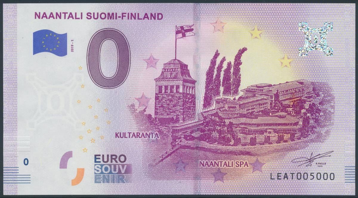Naantalista painetaan nollan euron seteli