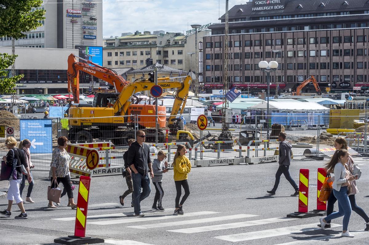 Turun keskustan remontit näkyvät elinvoimaluvuissa