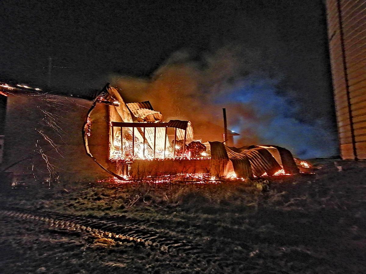 Maatilan lämpökeskus tuhoutui tulipalossa Koskella