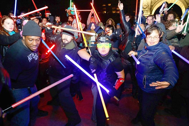 Star Wars -faneja New Yorkissa. AFP/John Lamparski